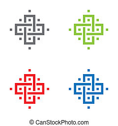 van een stam, kruis, pictogram
