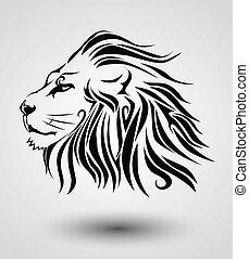 van een stam, leeuw