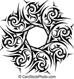 van een stam, ornament