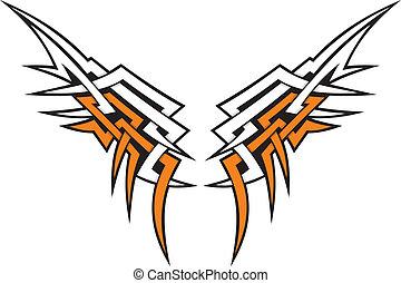 van een stam, vleugels