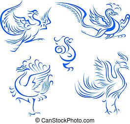 van een stam vogel, illustratie