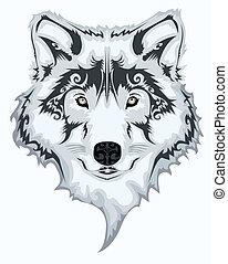 van een stam, wolf
