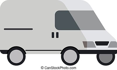 Van flat illustration on white