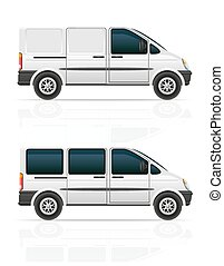 van for the carriage of cargo and passengers vector...