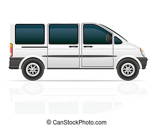 van for the carriage of passengers vector illustration...