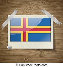 van hout vensterraam, vector, vlaggen, texture., aland