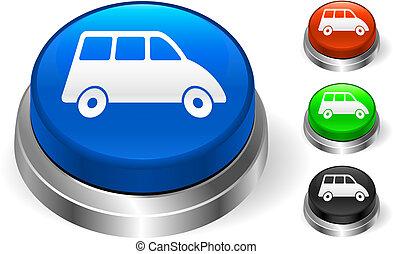 Van Icon on Internet Button Original Vector Illustration...