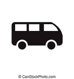 van icon on white background