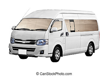 Van isolated on white background