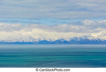 Van Lake and Artos Mountain view from Akdamar Island, Van, ...