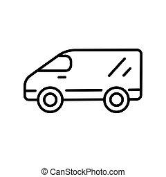 Van line icon on a white background