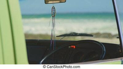 Van pendant hanging in van 4k - Van pendant hanging in van. ...