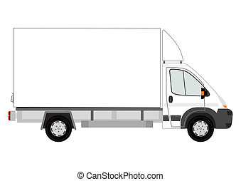 Van with space for any text