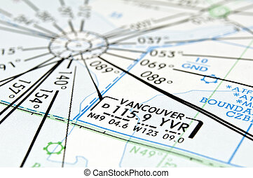 Vancouver aeronautical map. - Air navigation map detail:...