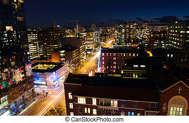 Vancouver at Night - City of Vancouver at night time