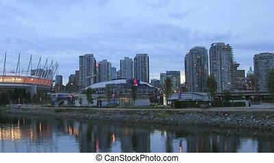 Vancouver BC along False Creek - Vancouver BC British...