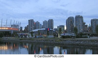 Vancouver BC along False Creek - Vancouver BC British...