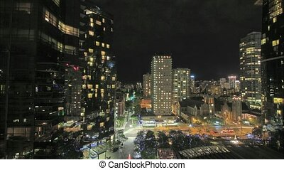 Vancouver BC Canada Downtown City a