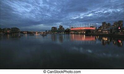 Vancouver BC Cityscape Blue Hour