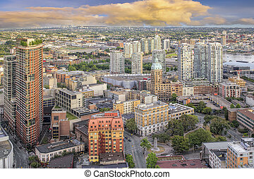 Vancouver BC Cityscape with Victory Square - Vancouver BC...