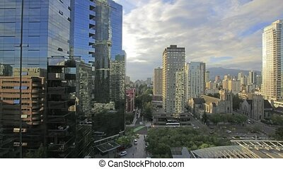 Vancouver BC Downtown Time Lapse - Vancouver BC Canada...