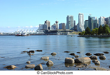 Vancouver BC from Stanley park, CA.