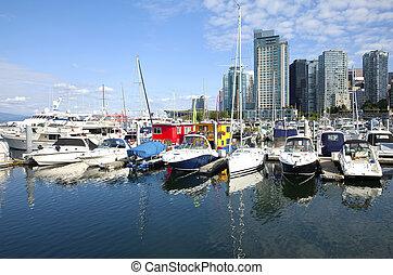 Vancouver BC marina.