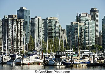 Vancouver, British Columbia, Canada. Vancouver Skyline....