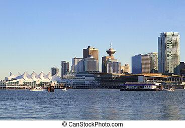 vancouver, canada, en ville, cityscape