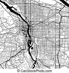 Vancouver Canada, Monochrome Map Artprint