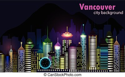 Vancouver Canada skyline silhouette