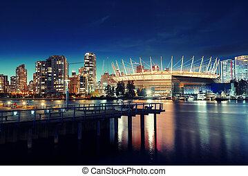 vancouver, città, notte