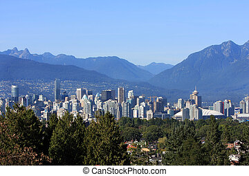 A scene of vancouver from a high view point