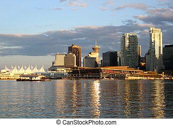 vancouver, cityscape, dans, en ville