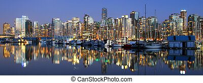 Vancouver downtown night