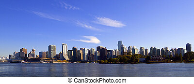 Vancouver downtown panoramic cityscape, Canada BC .