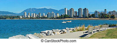 Vancouver downtown - Vancouver city skyline at waterfront...