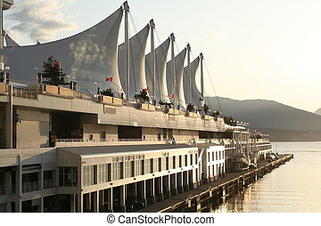 vancouver harbour in sunrise
