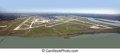 Vancouver International Airport in Richmond - panoramic view