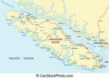 vancouver island map - vancouver island road map