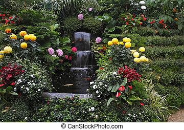 vancouver, magnifique, fontaine, île