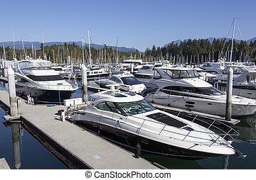 Vancouver Marina Boats