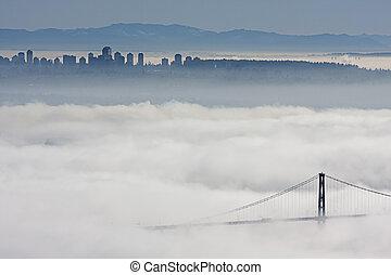 vancouver, nubi, sotto