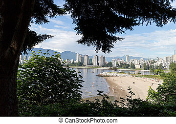 vancouver-, parco, spiaggia, -, spiaggia