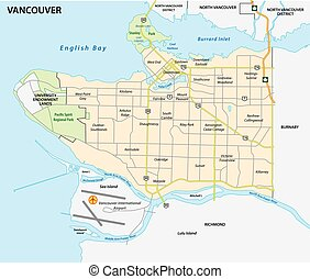 vancouver road and nighborhood map