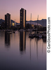 Vancouver skyline at dawn- Canada - Skyscrapers and ...