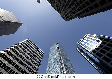 Vancouver - Skyscrapers on West Georgia Street - VANCOUVER -...