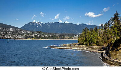 Vancouver - Stanley Park and West Vancouver - View at...