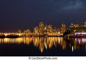 vancouver, w nocy