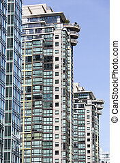 Vancouver's Apartment Buildings - The row of modern ...